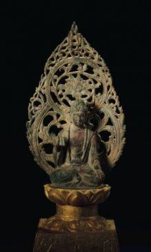 Бронзовая скульптура сидящего Будды (16,8 см), Эпоха пяти династий - Северная династия Сун (907-1126 гг. н.э).