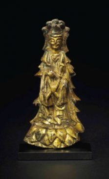 Бронзовая скульптура Бодхисаттвы (11,2 см), Западная династаия Вэй (535-556гг. н.э.).