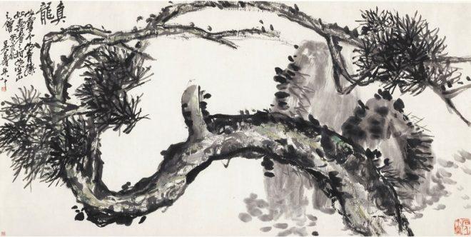 """""""Сосна"""", 1923, У Чаншо (псевдоним У Цзюньцина (1844-1927))"""