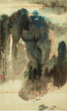 """""""Туманный пейзаж"""", 1967, Чжан Дацянь (1899-1983)"""