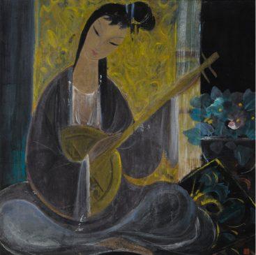 """""""Девушка с лунной лютней"""", Линь Фэнмянь (1900-1991)"""