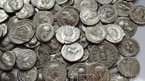 Коллекция римских монет, 150 штук