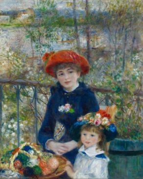 """""""Две сестры"""" (""""На террасе""""), Пьер Огюст Ренуар, 1881"""