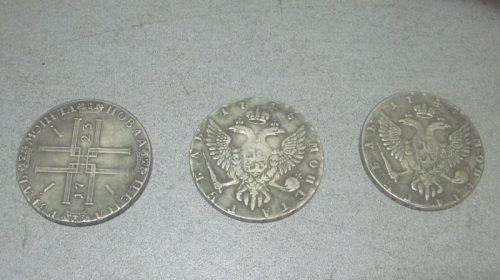 Серебряные монеты XVIII века