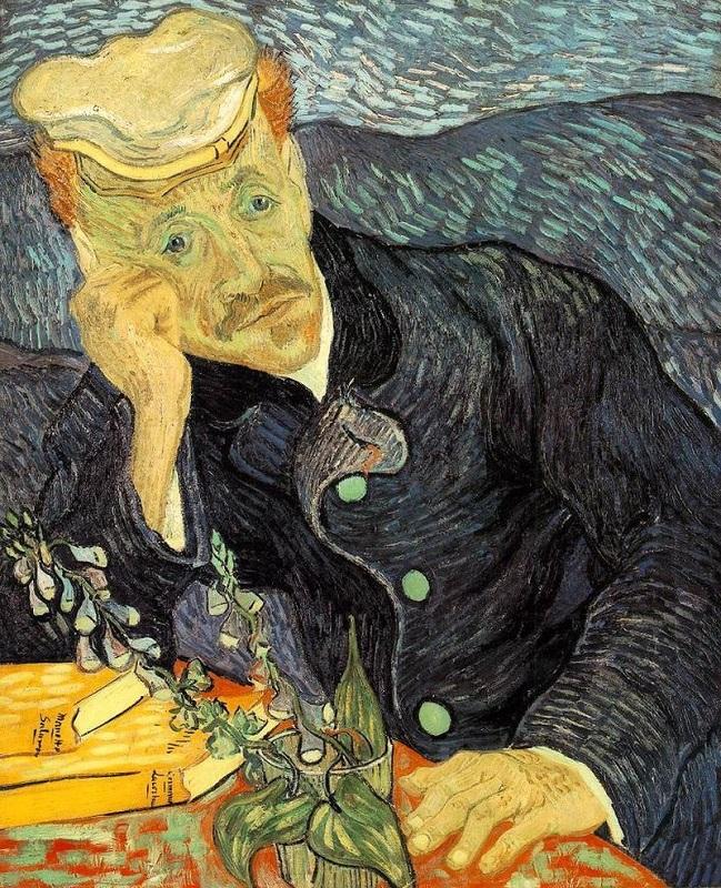 "Винсент Ван Гог, ""Портрет доктора Гаше"" (Portrait du Dr Gachet avec branche de digitale),1890"