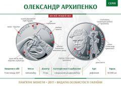 НБУ выпустил памятную монету из нейзильбера «Олександр Архипенко»