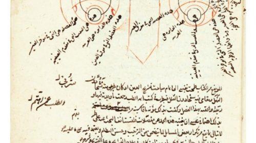 """Камаль аль-Дин аль-Фариси (родился 1320 н.э.), """"Книга оптической коррекции для тех, кто имеет глаза и разум"""", Персия, Тимурид (899-1494 гг. н.э.)."""