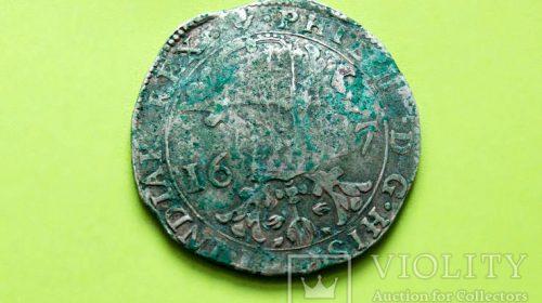 Ефимок с одним клеймом (надчеканом) 1627 год