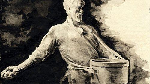 Крестьянин выполненный по скульптуреИвана Шадра