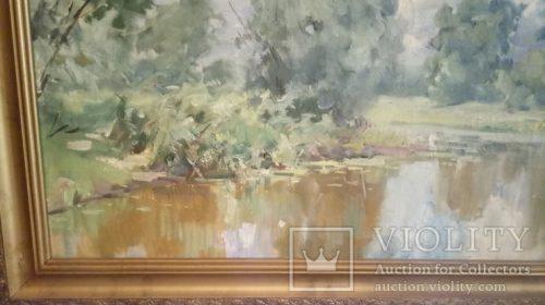 "Картина ""Деревья над прудом"" А. А. Шовкуненко"