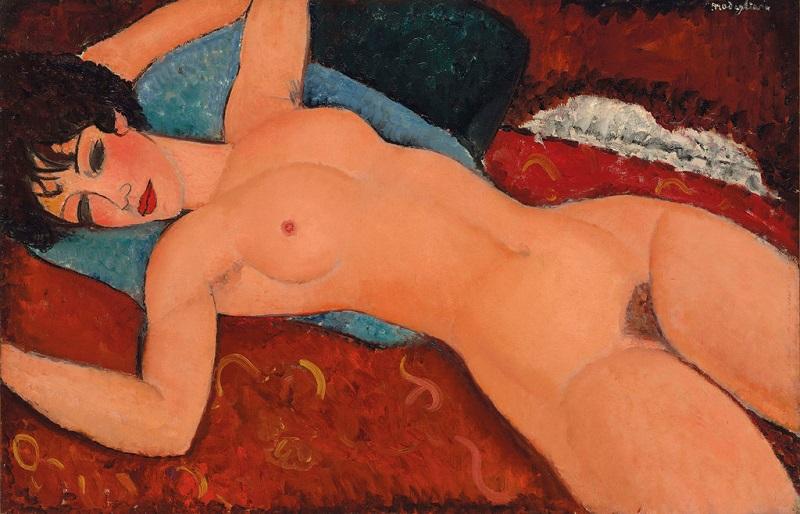 """Амадео Модильяни,, """"Лежащая обнаженная"""" (Nu Couché), 1917-18"""