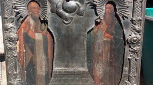 Икона Св Миколай і Св. Василій, перша половина 19 стИкона Св Миколай і Св. Василій, перша половина 19 ст