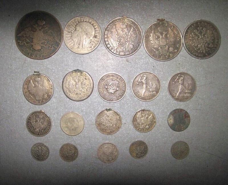 20 старинных монет 1817-1940 года чеканки