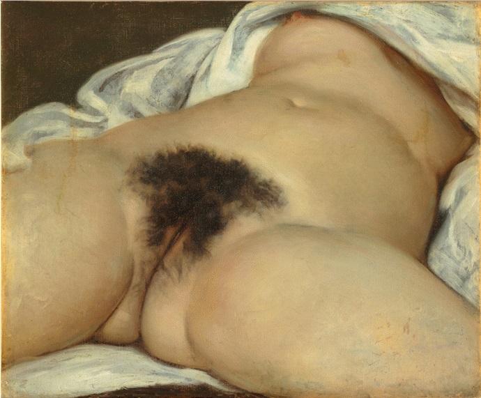 """Гюстав Курбе """"Происхождение мира"""" (L'origine du monde) 1866, холст,масло,46×55см"""