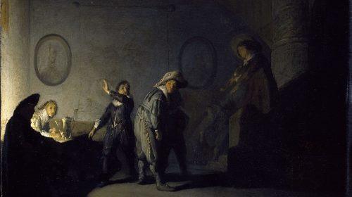 INTERIEUR MET FIGUREN ca. 1627, Rembrandt