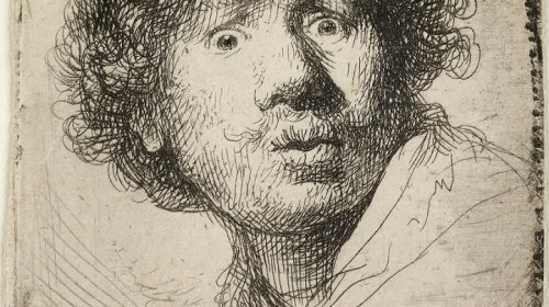 SELF-PORTRAIT IN A CAP, OPEN-MOUTHED 1630, Rembrandt