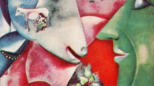 "Марк Шагал I am and the village - ""Я и деревня"" 1911"