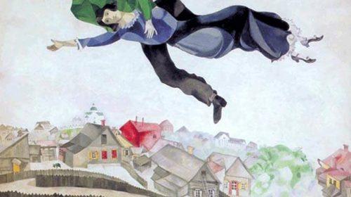 """Марк Шагал It's above a town - """"Над городом"""" 1917"""