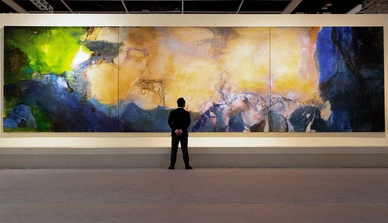 Огромный абстрактный пейзаж Чжао Уцзи продали на аукционе Sotheby's за $65 млн