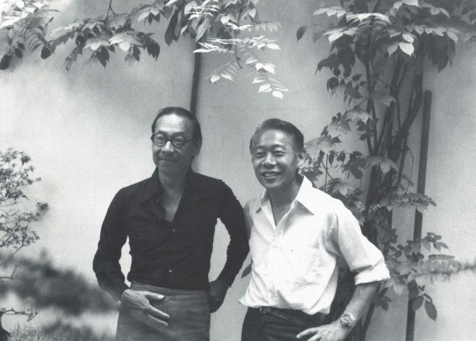 Художник Чжао Уцзи и архитектор И. М. Пей