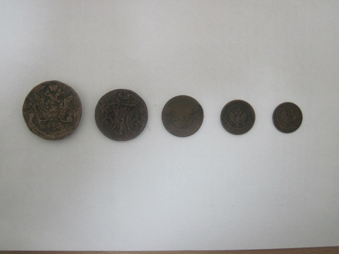 5 монет XVIII-XXвеков