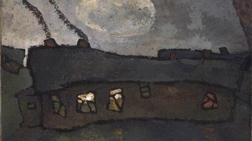 Оскар Рабин (1928-2018), Барак с луной, 1959