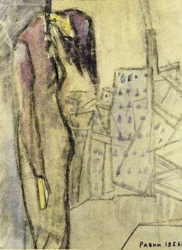 Оскар Рабин (1928-2018), Самоубийца, 1956