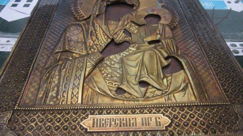 """Икона ''Иверская"""" серебро 84 пр."""