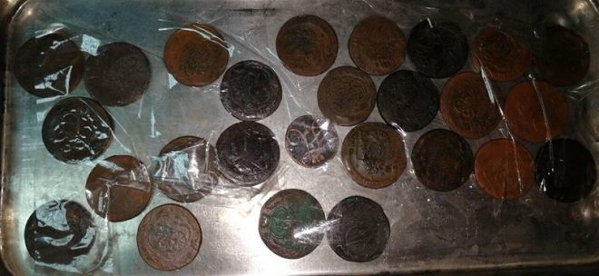26 медных монет времен Российской империи