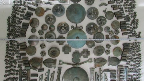 Элементы киммерийской конской сбруи VIII - VII вв. до н.э.