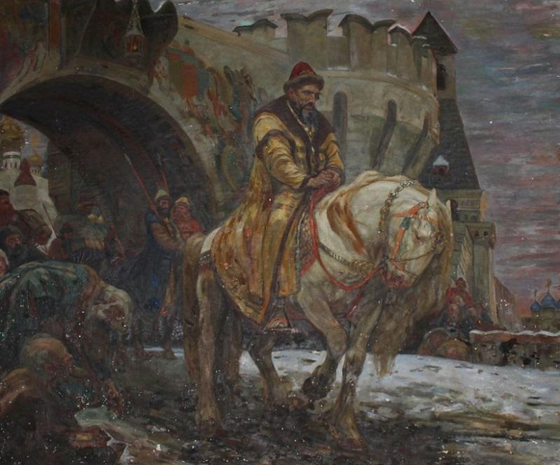 Михаил Панин (1877-1963) «Тайный выезд Ивана Грозного перед опричниной» 1911