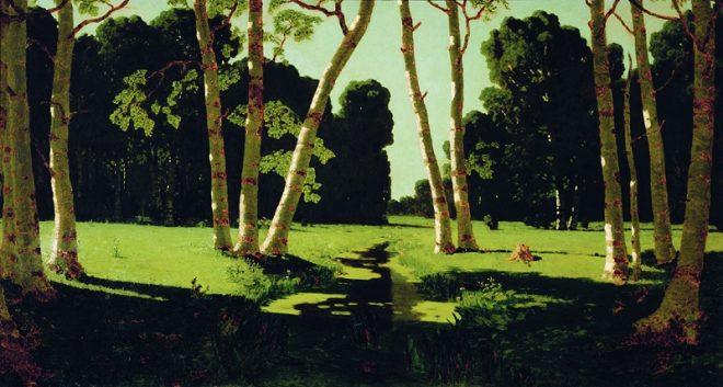 """Архип Куинджи (1842-1910) """"Березовая роща"""", 1879"""