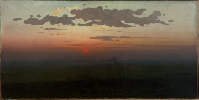 "Архип Куинджи (1842-1910) ""Закат в степи"", 1900"