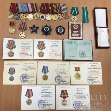 Комплект наград на генерал-лейтенанта Шевцова Виктора Афанасьевича