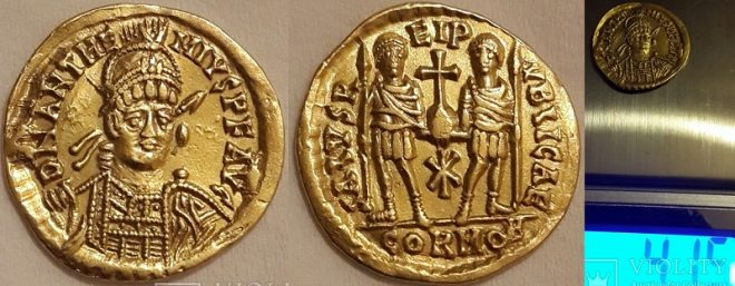 Римский солид, Антемий, 467-472 г.г.