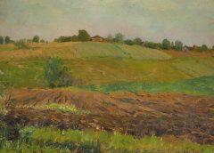 "картина Исаака Левитана ""Летний пейзаж. Пашня"""