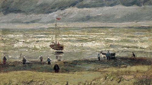 """Картина Винсента Ван Гога """"Вид на море у Схевенингена"""" (Zeegezicht bij Scheveningen), 1884-1885, 41,3 х 32,1 см"""