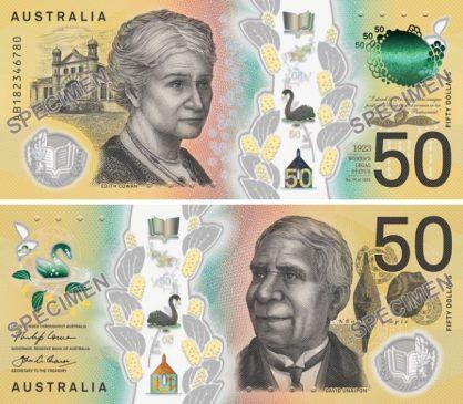 Банк Австралии напечатал 400 млн пятидесятидолларовых купюр сопечаткой