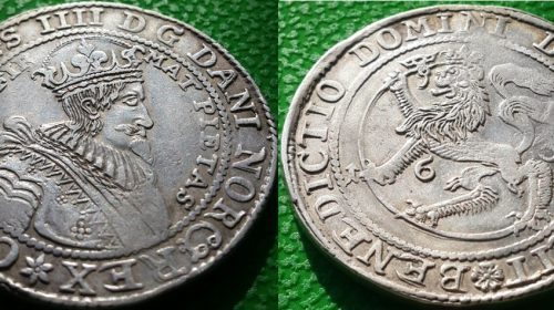 Талер Норвегия 1634 г. Кристиан 4