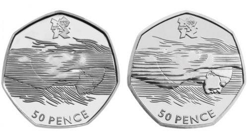 50 пенсов Aquatics 2012