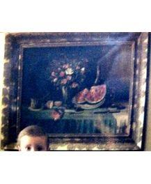 """Натюрморт """"РОЗРІЗАНИЙ КАВУН ТА ЛИМОН"""", 19-20 ст, зникла 25.10.2008 в Закарпатській області"""