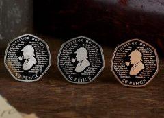 В Великобритании выпустили монету в 50 пенсов, посвященную Шерлоку Холмсу