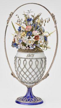 1901 год - яйцо пасхальное «Корзинка цветов»