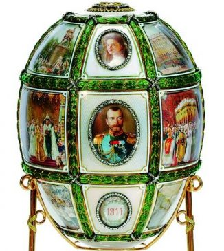 1911 год - пасхальное яйцо «Пятнадцатилетие царствования»