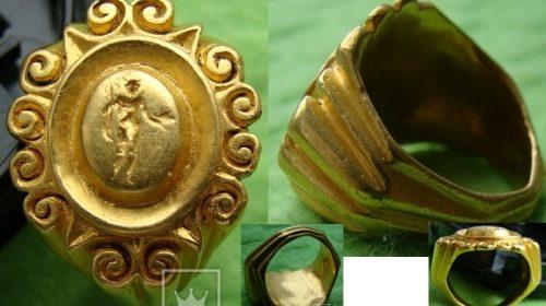 Перстень печатка Рим, золото, середина 3 ст. нашої ери