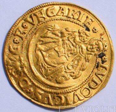 Голдгульден Венгрия, 1525 г., король Людовик (Лайош)