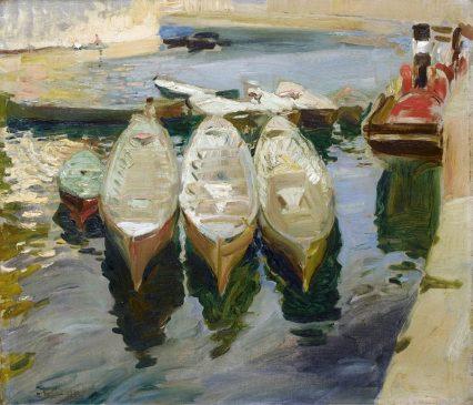 """Хоакин Соролья-и-Бастида (1863-1923) """"Порт Гетария, Страна Басков"""" (Puerto de Guetaria, País Vasco)"""