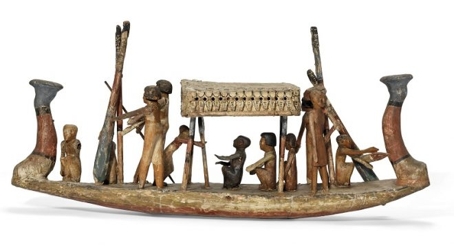 деревянная модель похоронной лодки, Древний Египет