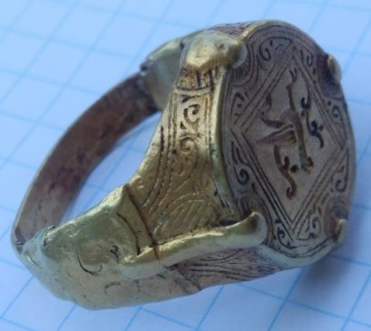 Перстень Киевская Русь 12-13 век Райская Птица