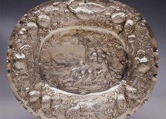 """Блюдо подарочное """"Свидание Венеры и Адониса"""". Швеция, Стокгольм, 1698 год"""
